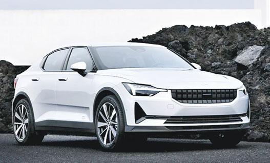 吉利傳擬將與富豪共同持有的瑞典電動車公司Polestar以SPAC方式於納斯達克上市,圖為純電動車Polestar 2。(網上圖片)