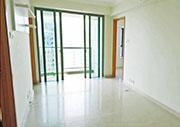 君傲灣新樓王為兩房間隔,實用440方呎,另連天台;據代理提供照片,單位內籠企理光猛。(代理提供)