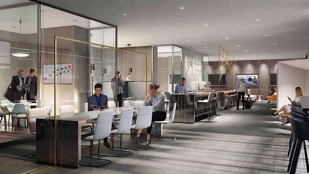六星級會所設有短期辦公室及專業健身中心等優質設施。