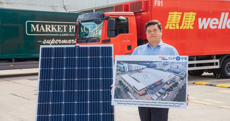 牛奶公司及中電合作建太陽能發電系統。圖為牛奶公司設施管理總監Jon Abel。