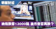【有片:埋身擊】納指跌穿13000點 後市會否再跌?