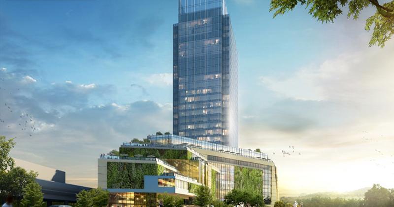 新地2016年向城規申請作商業發展的構想圖