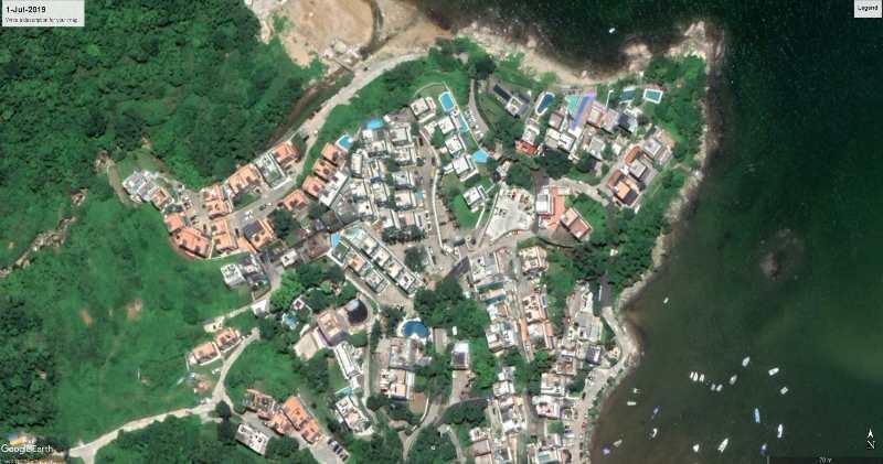 攝於2019年7月的清水灣衛星照片(圖片來源:David Webb fb)