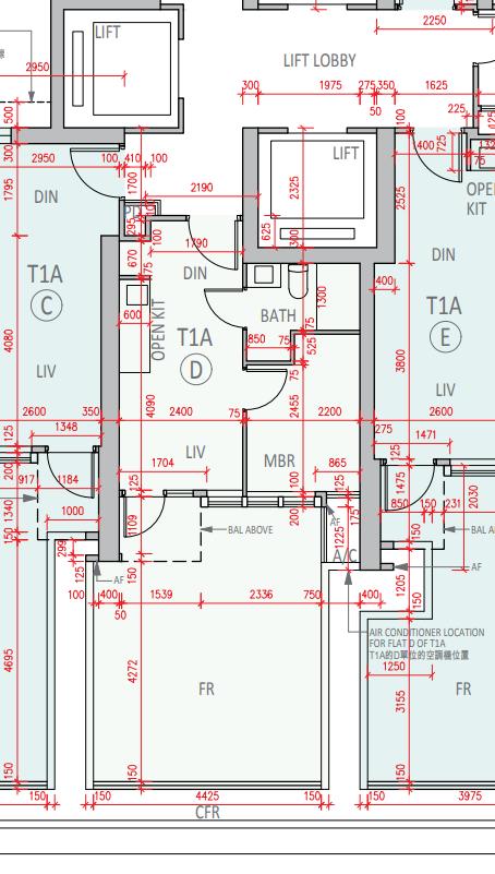 柏傲莊III最細一款單位,1A座7樓實用285方呎D室,連238方呎平台。