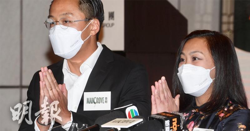 凌俊偉(左)、莫潔雯(右) 劉焌陶攝