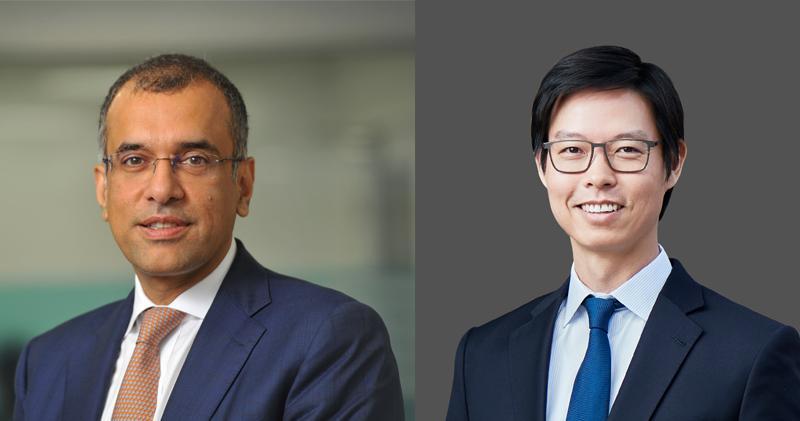 匯豐委任廖宜建(右)及Surendra Rosha(左)為亞太區聯席行政總裁