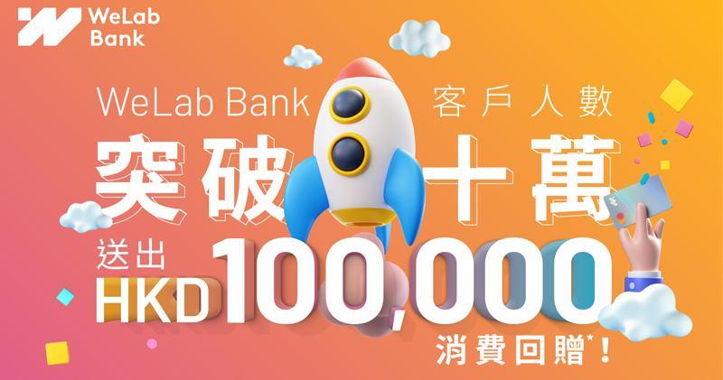 WeLabBank客戶人數破10萬 推抽獎回贈10萬元