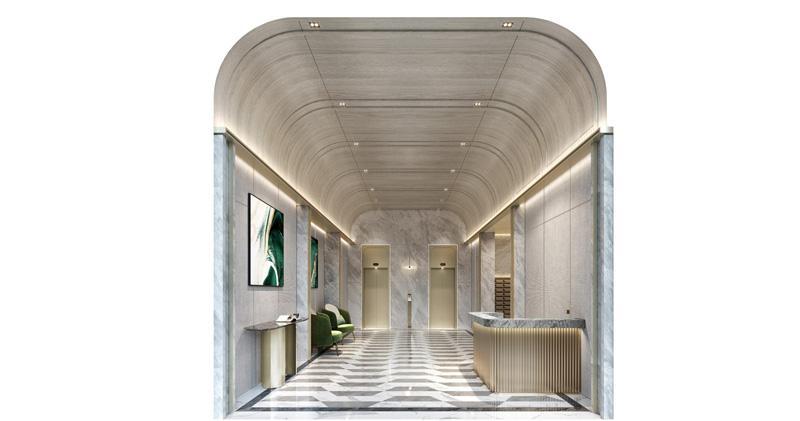 VAU Residence大堂引進部分無觸碰技術,以提升物業衞生質素。