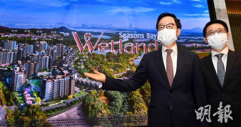 新地天水圍Wetland Seasons Bay涉1224伙 料本月批預售(劉焌陶攝)