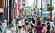 美國上月消費者物價指數按年升5%,較4月的4.2%大幅上升,升幅是接近13年來最大。圖為美國紐約購物區。(法新社)