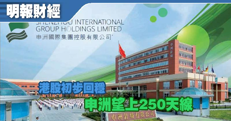 【選股王】港股初步回穩 申洲望上250天線
