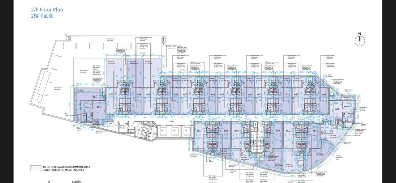 薈藍2樓全層平面圖