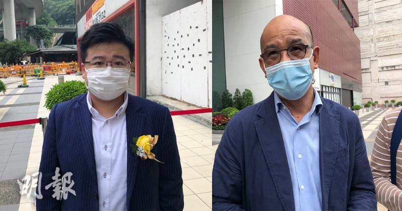 圖左:第一集團郭照華、圖右:宏安地產胡日發