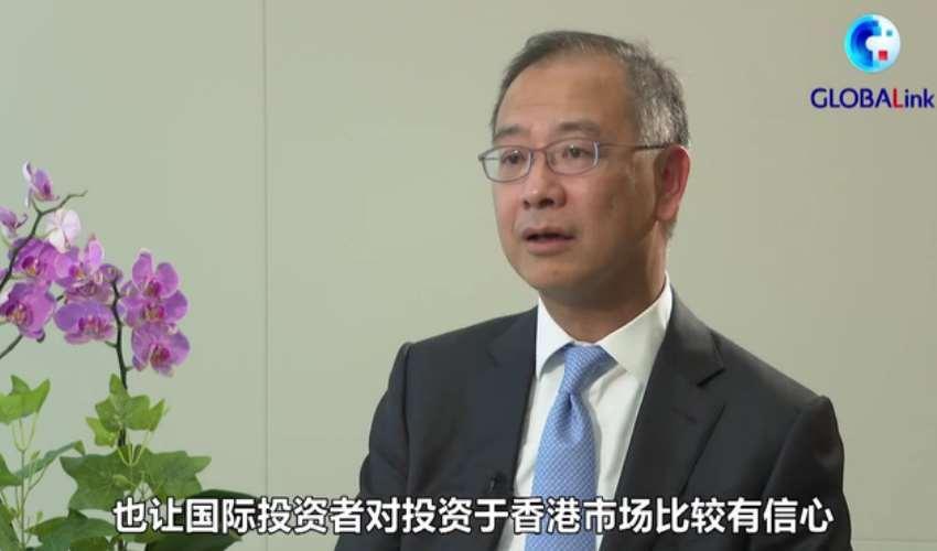 金管局總裁余偉文接受《新華社》專訪