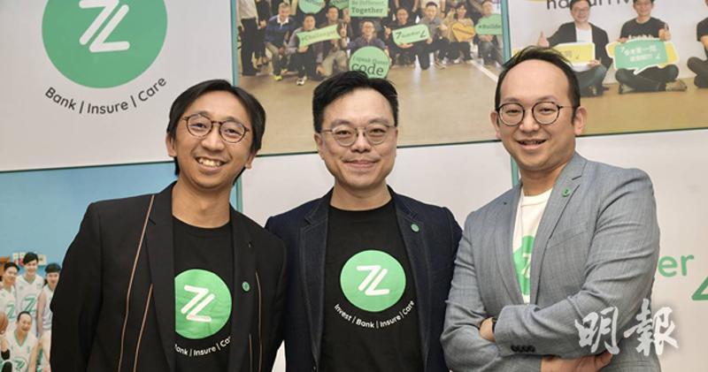 許洛聖(中)表示,ZA Bank至今用戶已超過40萬人。(鍾林枝攝)
