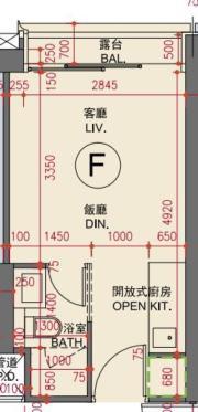 最細標準分層戶為3B座F室,實用面積229方呎,開放式間隔。(資料來源:THE HENLEY III樓書)