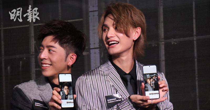 三星上半年香港智能手機銷量第一 今邀Mirror代言最新手機。(鄺海盈攝)