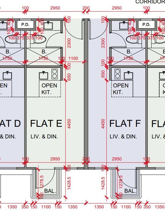南屏匯1座E、F室,實用276方呎,屬開放式戶,為面積最細單位。
