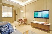 開放式廚房增加大廳空間感。