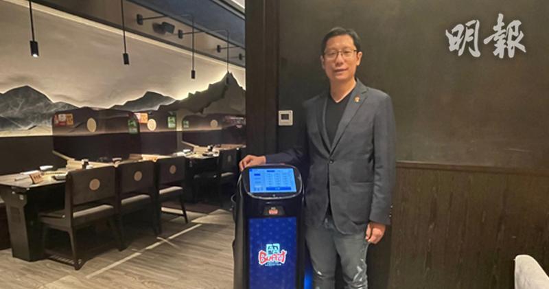 黃傑龍表示,集團最快於明年推出台灣火鍋品牌。(周綺琪攝)