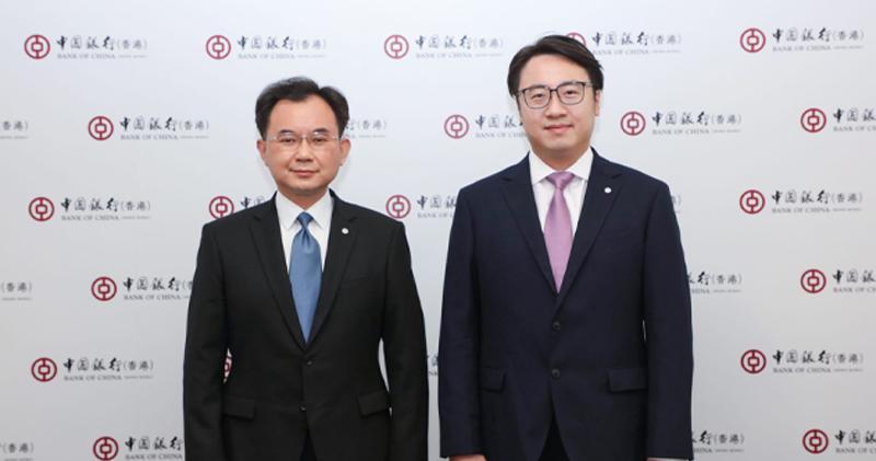 中銀香港個人金融及財富管理部總經理陳文(左)、個人數字金融產品部副總經理周國昌(右)