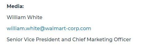 該新聞稿下款所使用的電郵,是「walmart-corp.com」,有網民指這只是一個月前才註冊的電郵地址。