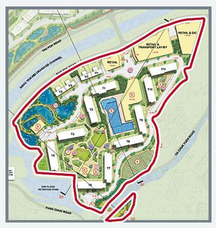 有財團就米埔錦壆路原獲批建洋房項目,向城規會申請改作分層戶發展,單位數目大增逾42倍至3090伙。(城規會文件)