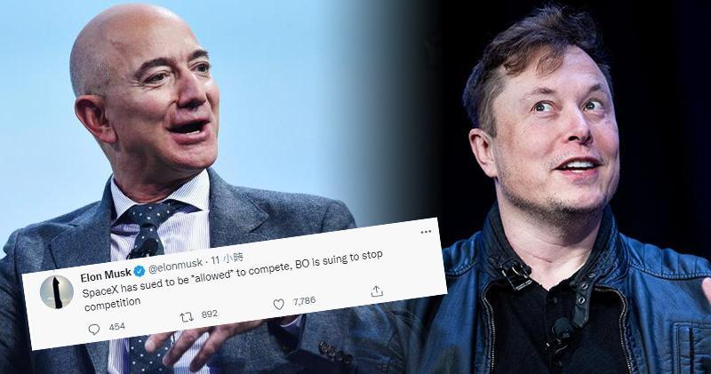 馬斯克反擊貝索斯:「spaceX起訴是為了競爭,你則是為了終結競爭」