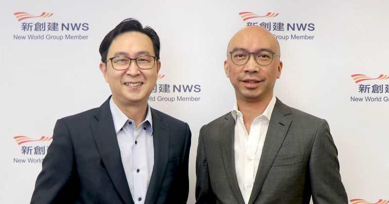 新創建行政總裁馬紹祥(左)及執行董事何智恒(右)。
