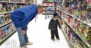 美國PCE物價指數續在30年高位徘徊,圖為當地一超市。