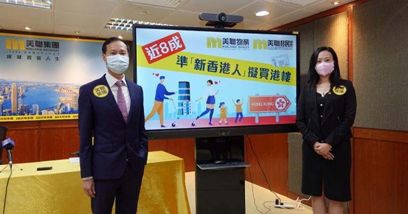美聯移民顧問調查:近八成「新香港人」擬買港樓