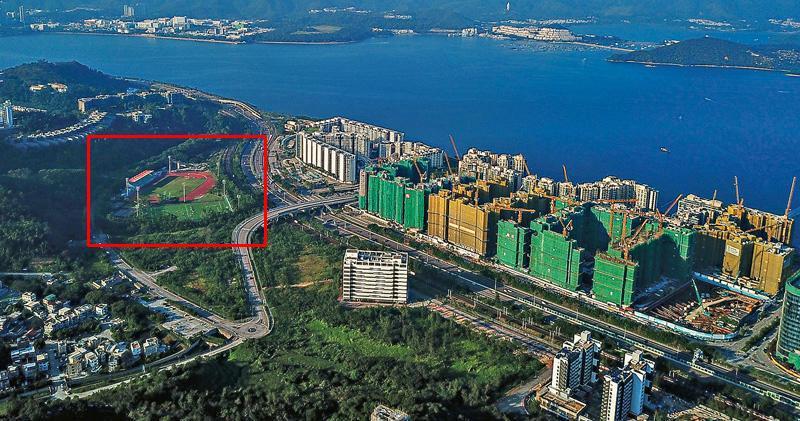 紅框位置為香港教育大學運動中心