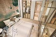 主人套房預留衣櫃位置,方便住戶擺放衣櫃後,仍無阻房內空間。