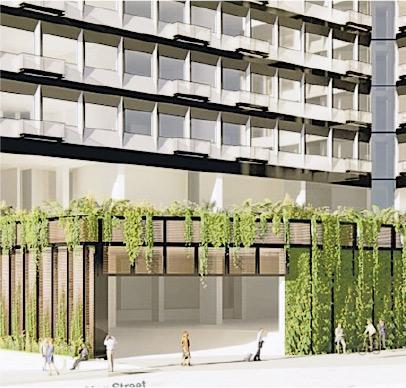 金朝陽持有的葵涌南華冷房大廈,近日向城規會申請重建作新式工廈,地下設有不少綠色植物作美化用途。圖為項目模擬圖。(資料來源:城規會文件)