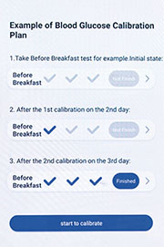 以往需要連續3日、每日7個時段,分別用睿糖原型和傳統血糖機來檢測血糖作對照校正,最新原型減至兩日對照校正。