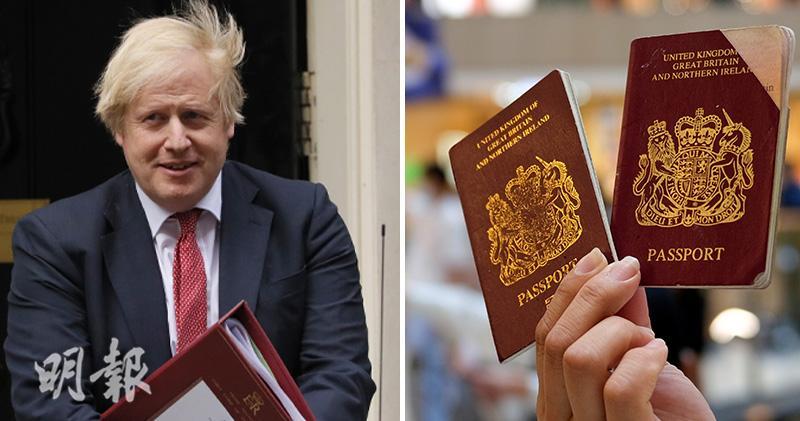 英國首相約翰遜(左圖)稱,若中方訂立「港區國安法」,英國政府會改變移民政策,容許來自香港的BNO持有人,延長在英國逗留時間至12個月。(新華社、路透社資料圖片)