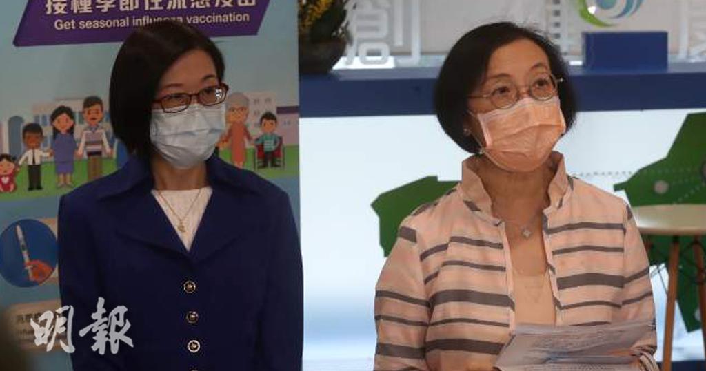 衛生署長陳漢儀(左)表示,已聯絡世衛西太平洋區辦事處和韓國當局了解韓國疫苗情況。(李紹昌攝)