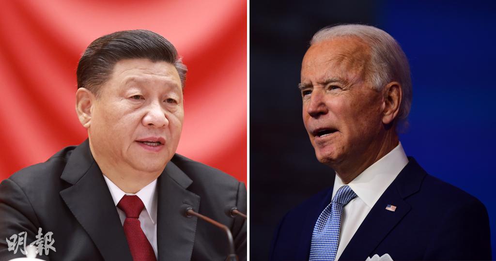 國家主席習近平(左圖)致電美國總統當選人拜登(右圖),祝賀他當選。(新華社/法新社)