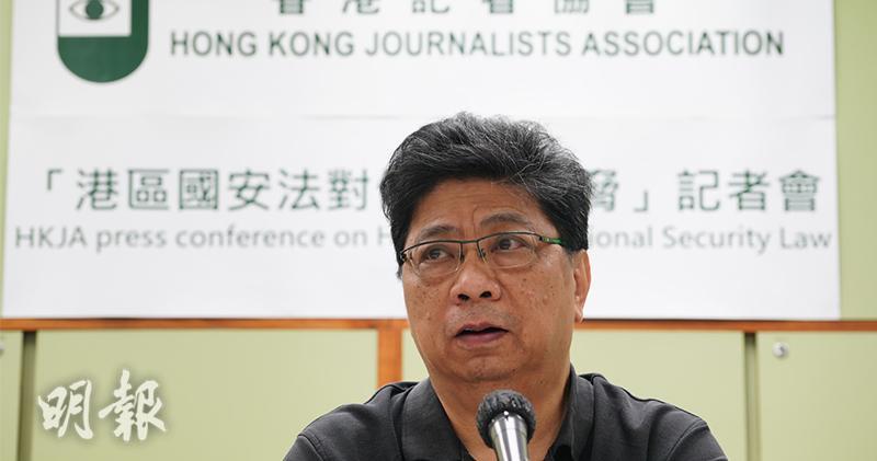 香港記者協會主席楊健興(資料圖片)