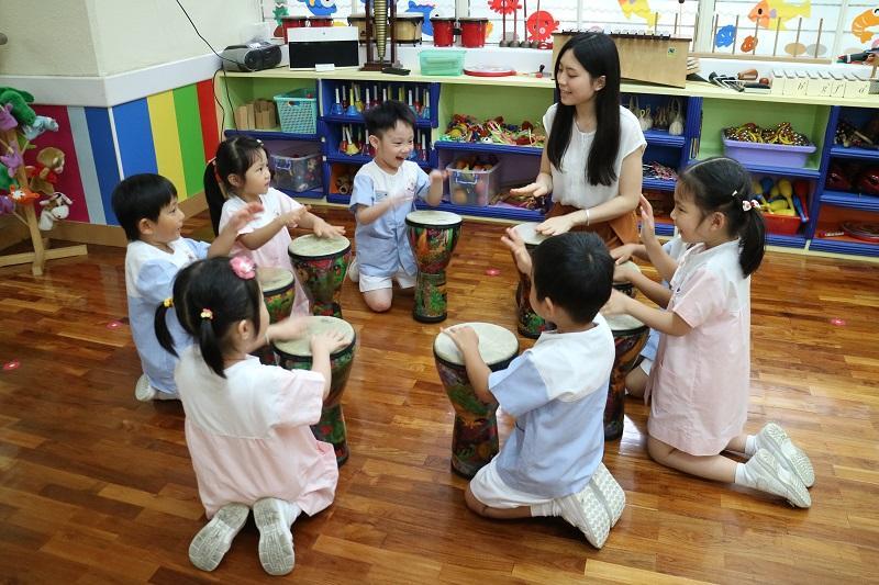東華三院力勤幼稚園教學情况。