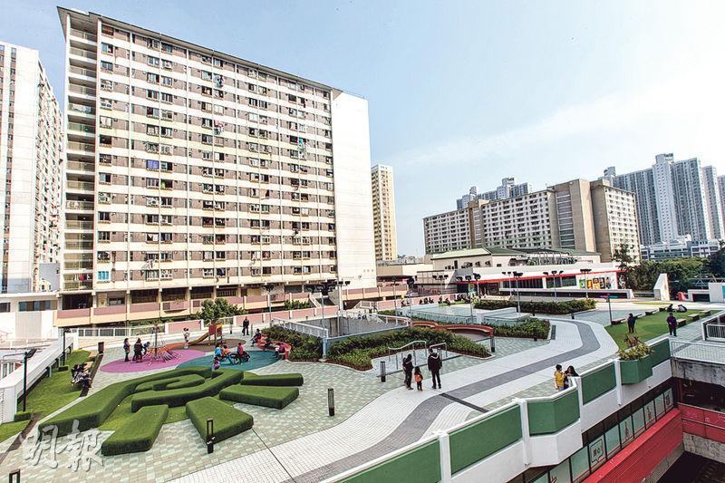 領展動用930萬元於屯門的H.A.N.D.S商場天台展開改善工程,加設兒童遊樂設施及長者康體設施等。(領展提供)