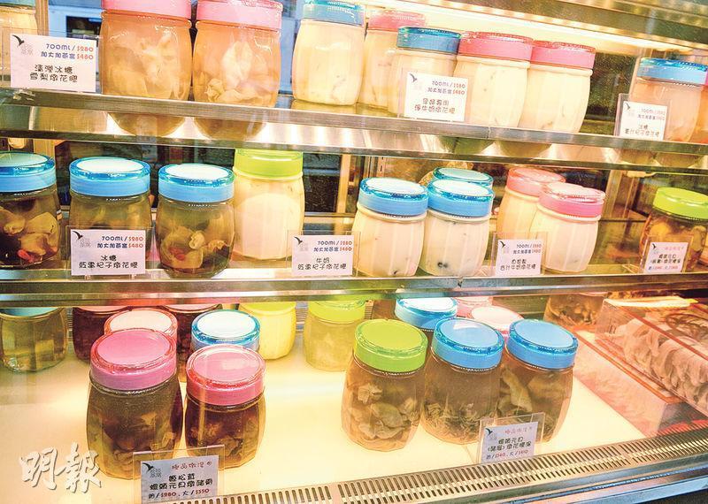 即食花膠及花膠湯幾乎是一個新市場,雖然其規模沒有即食燕窩市場那麼大,但勝在競爭小。圖為該公司生產花膠湯。(攝影:劉焌陶)