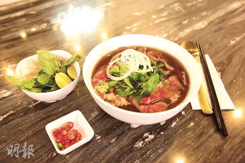 Brass Spoon表示,越式牛河選用美國安格斯牛,湯底以大量牛骨熬製最少12小時而成,不用味精。(伍浦鋒攝)