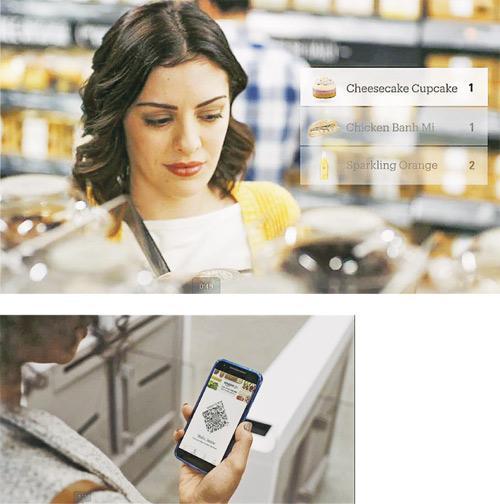 亞馬遜推出實體便利店,用戶用App掃描貨品後就可以離開,毋須排長龍付款。(網上圖片)