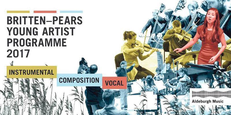 名家訓練——謝方中經常參加著名音樂家的大師班,包括Britten-Pears Young Artist Programme,這是一個有40年歷史,為新進全職音樂家免費提供高階演出訓練的藝術家計劃。她的照片(右)刊登在2017年活動的宣傳品上。(圖:受訪者提供)