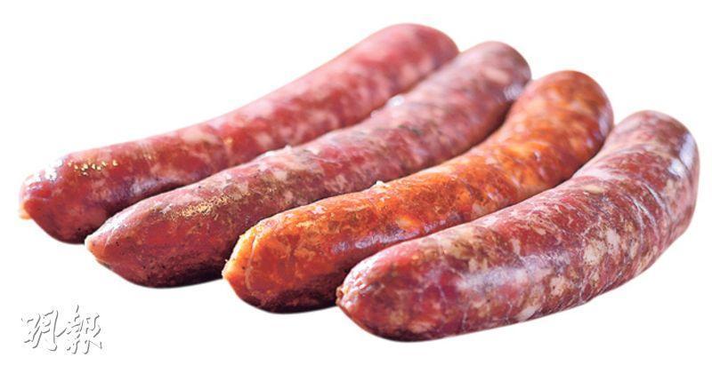 自家製香腸——肉味澎湃,不會過鹹,最欣賞帶甜的英國早餐腸。 ($300至390/1kg,A)(圖:馮凱鍵)