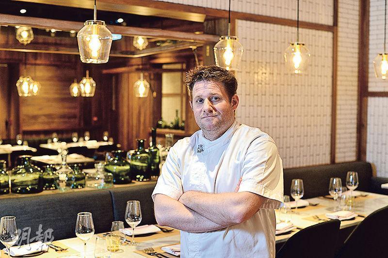 米芝蓮一星大廚——健談的Todd Williams(圖)自小已熱愛烹飪,跟Chef Magnus理念相同,亦同樣擁有一星米芝蓮榮銜。(圖:楊柏賢)