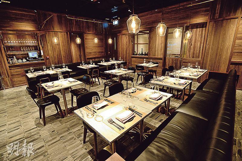 法式小酒館——餐廳設計以法式小酒館作藍本,由Neri & Hu負責設計,清晰地劃分成酒吧、用餐區、Private Room等不同區域,氣氛casual得來不失格調。(圖:楊柏賢)