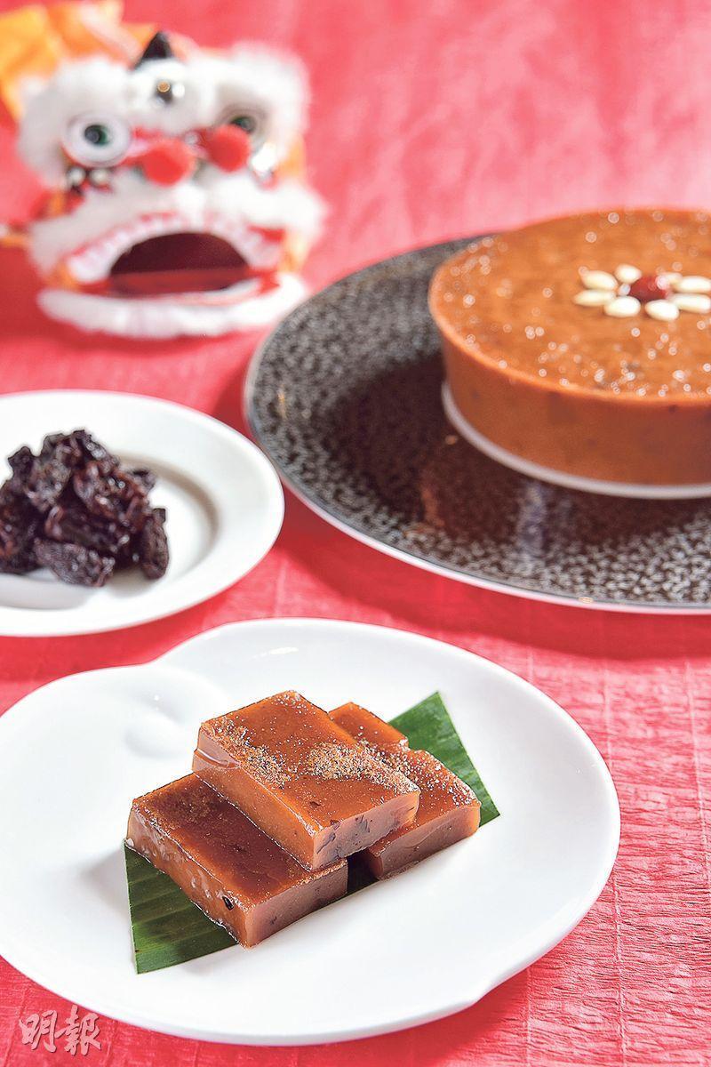 南棗黑糖年糕——選用來自浙江義烏的南棗,配合甘蔗味道強烈的韓國黑糖,棗香味柔和,糕身軟糯。($248,C)(圖﹕黃志東)