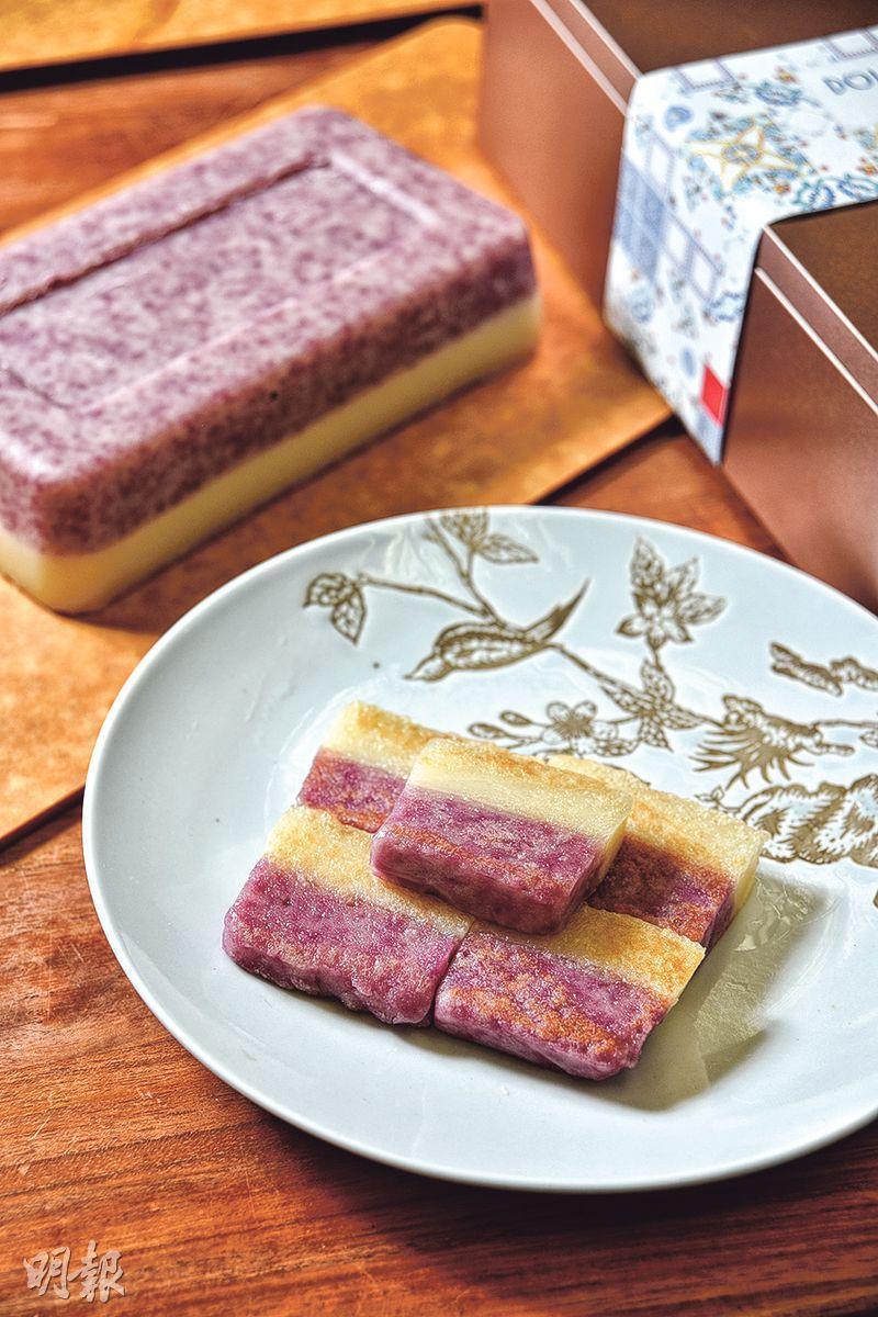 雪燕紫薯杏汁年糕($228/1.5斤裝,G)(圖﹕黃志東)